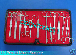 12 Pcs Minor Surgery Suture Surgical Instruments Set Kit