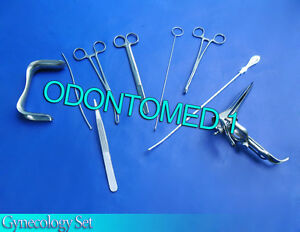 Gynecology Surgical Instruments Kit Forceps speculum sounds scissors