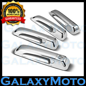 Triple Chrome Plated 4 Door Handle W Keyhole Cover Fit 06 11 Jeep Commander