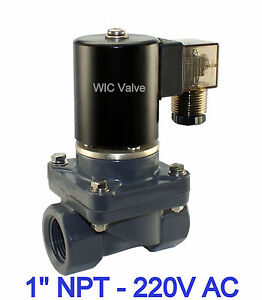 1 Inch Cpvc Anti Corrosion Acid Salt Water Electric Solenoid Valve Nc 220v Ac