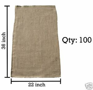 100 22x36 Burlap Bags Bulk Sacks Potato Race Sandbags Home Depot Wholesale
