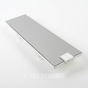 Exo Slim 295mm Wide View Room Mirror White Finish 3702 By Autocom