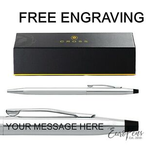 Cross Classic Century Chrome Mechanical Pencil Gift Boxed Free Engraving