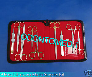 9 Pcs T c Scissors forceps needle Holder Surgical Veterinary Instruments Kit