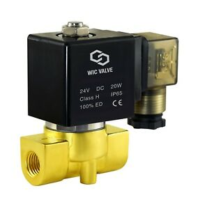 Brass Electric Fast Response Solenoid Valve Normally Closed 24v Dc 1 4 Inch