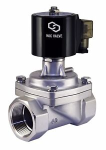 Stainless Zero Differential Electric Steam Solenoid Valve Nc 1 5 Inch 220v Ac