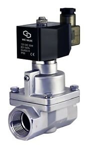 1 Inch Normally Closed High Pressure Electric Steam Solenoid Process Valve 12v