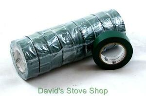 1 Case Of 300 Rolls 3 4 X 30 Green Pvc Vinyl Electrical Tape E52811 Et300