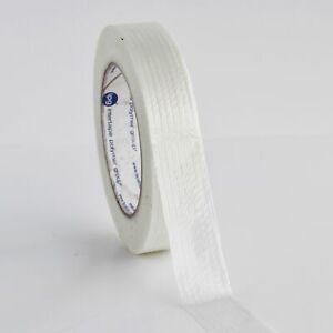 Clear Industrial Filament Reinforced Strapping Tape 4 Mil 1 X 60 Yds 18 Pack