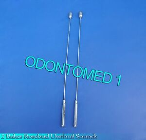 2 Pcs Bakes Rosebud Urethral Sounds 11mm 12mm