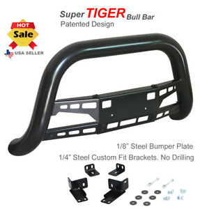 Super Tiger Bar Fits 05 15 Toyota Tacoma Black Bumper Push Guard Bull Bar