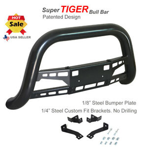 Super Tiger Bull Bar Fits 06 12 Toyota Rav4 Black Powdercoated Bumper Guard