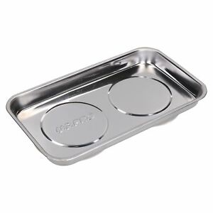 Magnetic Rectangular Parts Tray Storage Holder Dish Stainless Steel 230 X 135mm