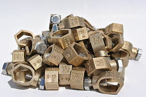 Box Of 50 Pieces Brass 5 8 Acorn Ground Rod Clamps Direct Burial Ul Csa Listed