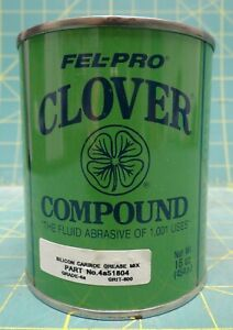 Fel pro Clover Compound Silicon Carbide Grease Mix Grade 4a Grit 600 16 Oz