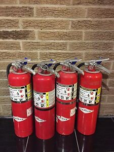 Set Of 4 Fire Extinguisher 10lb 10 Abc New Cert Tag scratch dirty