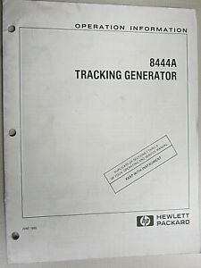 Hp 8444a Tracking Generator Operation Information 08444 90035