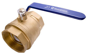 4 Brass Ball Valve Full Port 600wog For Water Oil Gas With Blue Handle