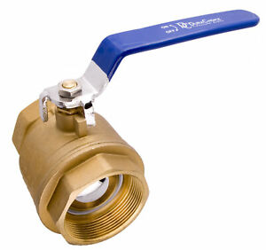 3 Brass Ball Valve Full Port 600wog For Water Oil Gas With Blue Handle