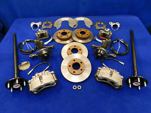 Fox Ford Mustang 5 Lug Front Rear Disc Brake Conversion Kit 94 95 Spindles