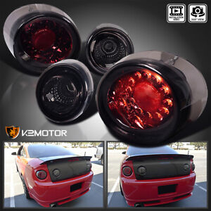 For 2005 2010 Chevy Cobalt 2dr Coupe Led Tail Lights Lamps Smoke Left Right 4pc