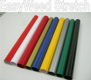 Siser Stretch Easyweed Heat Press Transfer Vinyl 15 X 12 9 Colorful Rolls