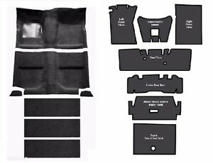 New Acc Mustang Fastback Complete Carpet 80 20 Loop With Sound Deadener Usa