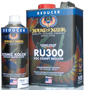 House Of Kolor Ru300 V O C Exempt Urethane Reducer 1 Gallon
