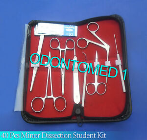 40 Pc Minor Dissection Student Surgical Instruments Kit Ds 1101