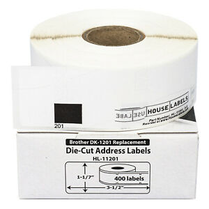 100 Rolls Of Dk 1201 Brother compatible Address Labels Bpa Free