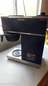 Used Bunn Pour o matic Vpr Coffee Brewer 0 5gal 12 Cup Stainless Steel W warra