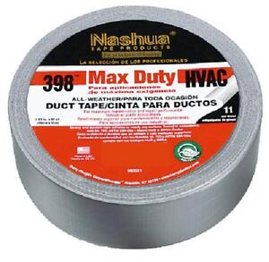 Case Of 12 Nashua Max Duty 398 Hvac Duct Tape Pro Grade Silver 2x60 Free Ship