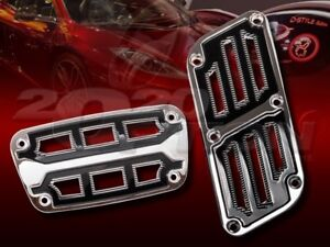 Chrome Black Muscle Zinc Automatic Brake Gas Pedal Pads For Land Rover