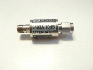 Agilent Hp 8493a Coaxial Fixed Attenuator 10db Dc To 12 4 Ghz Sma Male Female