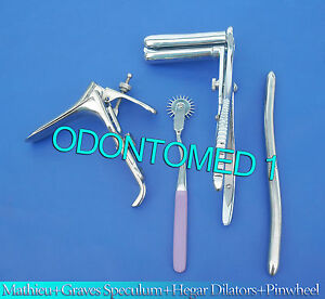 Mathieu Speculum Hegar Dilator purple Pinwheel graves Vaginal Speculum Large
