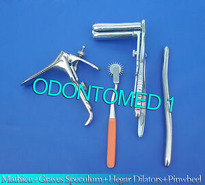 Mathieu Speculum Hegar Dilator orange Pinwheel graves Vaginal Speculum Large