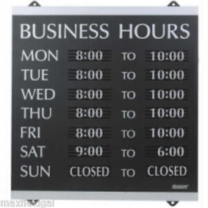 New U s Stamp Sign Century business Hours Preprinted Sign 13 x14 Plastic