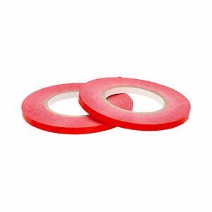 Poly Bag Packing Tape 3 8 X 180 Yards With Dispenser Red Color 12 Rolls