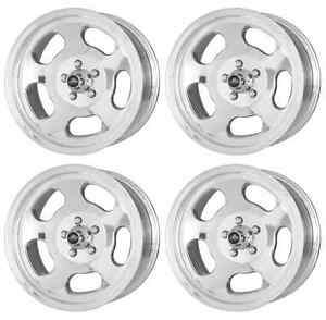 American Racing Hot Rod Vna69 Ansen Sprint Vna695748 4 Rims 15x7 0mm Polished