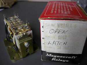 Magnecraft W88alx 6 Relay Open Latch Spdt 24vac New Old Stock