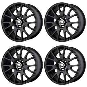 Motegi Racing Mr118 Mr11878012745 Rims Set Of 4 17x8 45mm Offset 5x4 5 M black