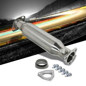 Ss 2 25 High Flow Cat Converter Exhaust Race Test Downpipe For 88 00 Civic
