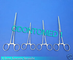 4 Rochester Pean Hemostat Forceps 9 10 12 14 Straight Surgical Instruments