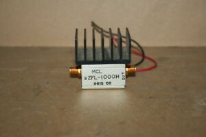 Coaxial Amplifier Broadband Sma 50 Ohm 10 1000 Mhz Zfl 1000h Mini circuits