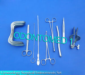 Gynecology Surgical Instruments Kit Forceps Sims collin Speculum Large