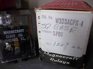 Magnecraft W388acpx 4 Relay Sq Base Spdt 120 Vac New Old Stock