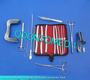 Gynecology Surgical Instruments Sims collin Speculum Medium hegar Dilators Kit