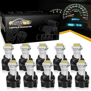 10 Pc74 Twist Socket White T5 73 74 1 smd 5050 Led Instrument Cluster Dash Light