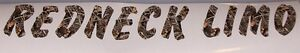 Redneck Limo Real Tree M4 Camo Window Decal Sticker Decals Stickers Deer Hunting