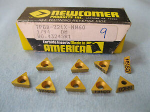 9pcs Newcomer Tpgb 221 X Nn60 Carbide Turniing Inserts Machine Shop Tools